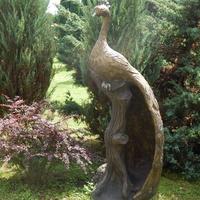 Скульптура павлина (во двворе костёла)