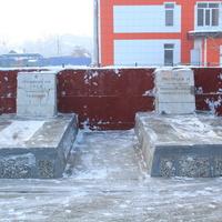 Мемориал в Зиме, могилы Трифонова и Григорьева.