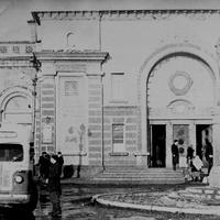 Привокзальная площадь южного вокзала ст.им. Шевченко,60-е года.