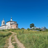 Церковь Ефрема Сирина,  вид от р. Нерль