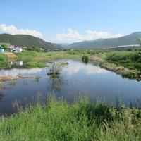 Речка Тимлюй  после проливных дождей.