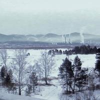 п. Селенгинск. Вид с моста через реку Селенгу.