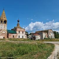 Никольская и Скорбященская церкви в Большом Борисове