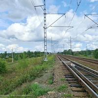 Железнодорожные пути от моста к станции Усад