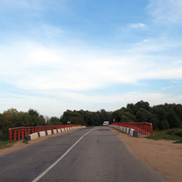 Мост через речку Лужа