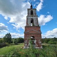 Урочище Аргуново,  вид  с возвышенности - руин церкви Николая Чудотворца