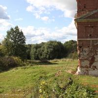 Вид от руин Никольской церкви в сторону р. Киржач