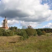 Аргуново,  колокольня Никольской церкви и Аргуновский погост
