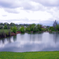 Вид на плотину Штеровского пруда