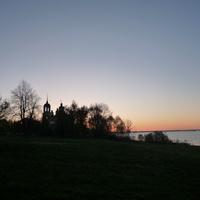Село Бежицы и Верестово озеро на закате. 2011 г.