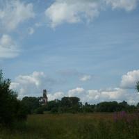 Вид на Чижово с дороги. 2009 г.