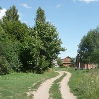 Латыгори, въезд в деревню
