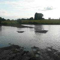 Затопленная плотина в Лупиловке