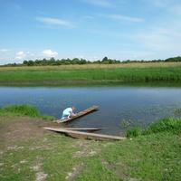 Село Поречье. На берегу р. Мелечи. 2009 г.