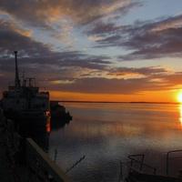 Рассвет над Северной Сосьвой. Берёзово. Югра