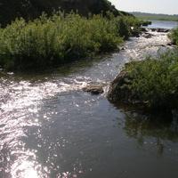 Река, вытекающая из стахановского пруда