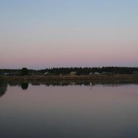 Югра. Река Ляпин. На горизонте - деревушка Хурумпауль.