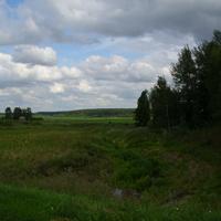 Вид на лес  с плотины