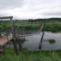 Висячий мост в дер. Хитово