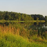 Закат на озере недалеко от Краковки