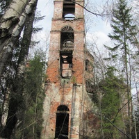 урочище Наумово, колокольня Преображенской церкви, весна 2010 года.