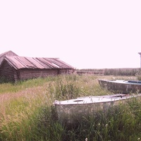 Ханты-Мансийский автономный округ-Югра. Хошлог. Лодки.