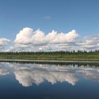 Ханты-Мансийский автономный округ-Юграю Река Ляпин. Июль 2011 года.