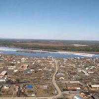 Ханты-Мансийский автономный округ-Югра. Западная Сибирь. Саранпауль. Вид с вертолёта.