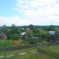 Вид на деревню с крыши