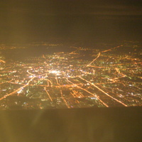 Ночьной город с самолёта