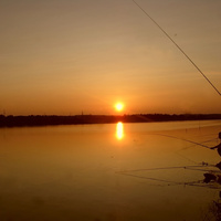 Озера на закате