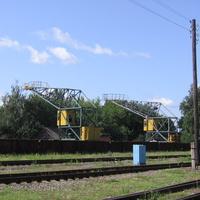 Краны на ЖД станции
