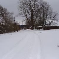 Еськовка. Заснеженная улица.