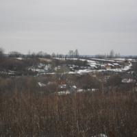 село Изволь зимой