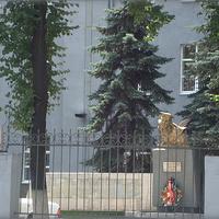 пам. Н.Вилкову на территории Дома курсантов ГРУ