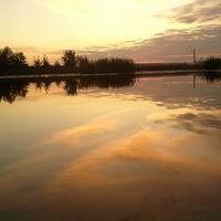 закат на Битюге, косица 28.08.2011 г.