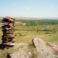 Вид на аал Усть-Фыркал с 5 Сундука август 2010 г.