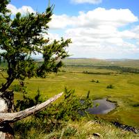 Вид на аал Усть-Фыркал с 7 Сундука агуст 2011 г.