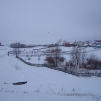 Виды зимней Лашманки. Обратите внимание на точку на небе