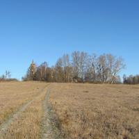 д.Чурилово, осень 2011 г., вид на деревню от р.Соть.