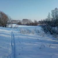 Зима. Озеро новое