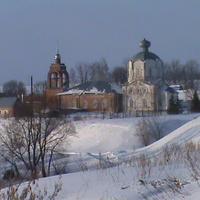 с.Новокрасивое вид на церковь зима 2011 год