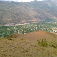 Вид с горы на село Луткун