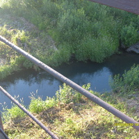 Речка Садинка,глубокая и холодная
