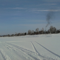 Чекунда, январь 2012 г. вид с речки Бурея
