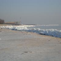 зима берег