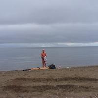 Одинокий купальщик в сентябре. 2009 г.