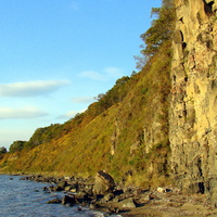 шкотово, берег моря,октябрь