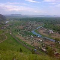 Вид с горы на Усть-Таштып