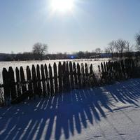 засыпаны снегом